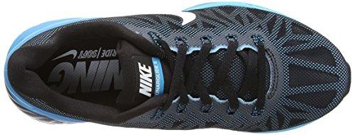 Nike Lunarglide 6 Donna Nero / Bianco-blu Laguna Chiaro