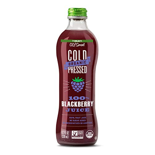 7-Select Organic Cold Pressed Juice, Blackberry, 11.2 Oz Bottles (6 Pack)
