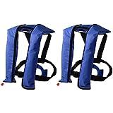 LOT 2~Automatic/Manuel Life Jacket Vest Auto Inflatable PFD Survival Floatation - CO2 tank included