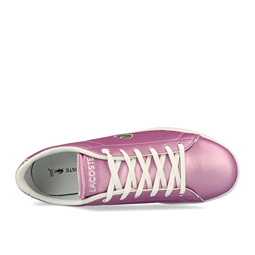Lacoste Carnaby Evo 218 1 Gold Synthetic Youth Sneakers fucsia
