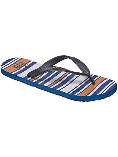 Reef Switchfoot Prints, Sandalias Flip-Flop para Hombre marrón/azul