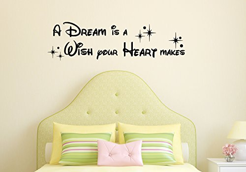 Make Hearts - The Vinyl Design Company A Dream is a Wish Your Heart Makes - Vinyl Wall Art Decal 38