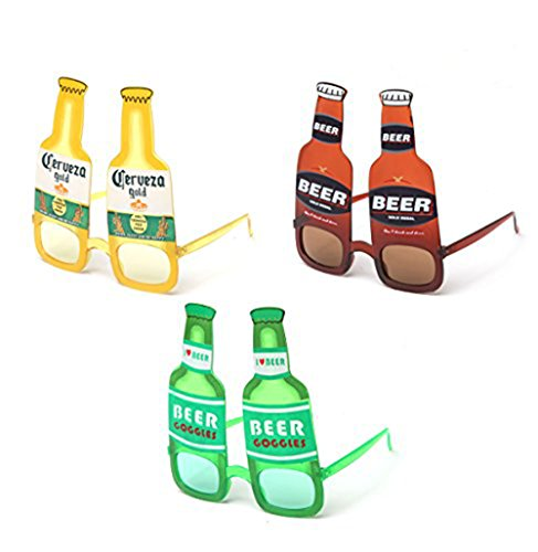 Kyra Party Props Beer 21+ Adult Fun Sunglasses Goggles Drink Music Festival Glasses -