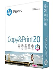 HP Printer Paper 8.5x11 Copy&Print 20 lb 1 Pack 400 Sheets 92 Bright Made in USA FSC Certified Copy Paper HP Compatible 200010R