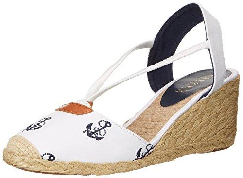 UPC 888875252546, Lauren Ralph Lauren Women's Cala Espadrille Sandal, White/Modern Navy Anchor Canvas Emb Critters, 11 B US