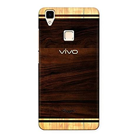 brand new 85117 e0787 Crazyink Vivo V3 Premium Stylish Printed Brand Logo Designer Shock Proof  Waterproof Back Case (Brown)