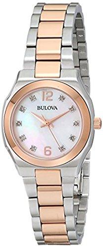 Bulova Women's 98P143 Diamond Gallery Analog Display Japanese Quartz Two Tone Watch