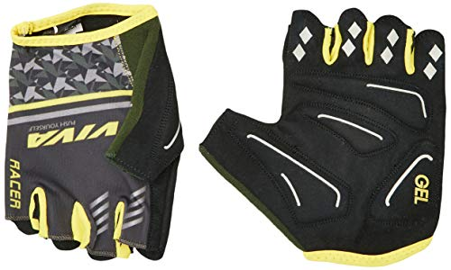 Vector X Racer Cycling Gloves  Yellow Grey