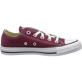 Converse Chuck Taylor All Star Canvas Low Top Sneaker,  maroon ,10.5 Men/ 12.5 Women