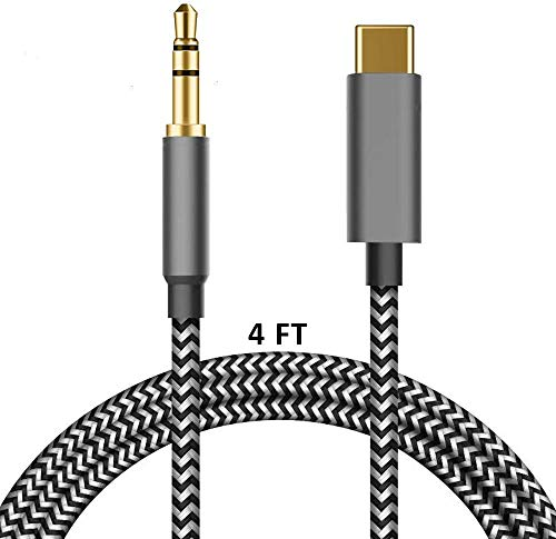 USB C to 3.5mm Aux Cable, LecLooc 3.5mm Aux Cord for Google Pixel 4/4XL/3/3 XL/2/2XL, Galaxy Note 10/10+/S20/20+/20 Ultra, OnePlus 6T/7/7Pro/7T,iPad/MacBook Pro, Moto,Xiaomi,Essential,Huawei(1.2m)
