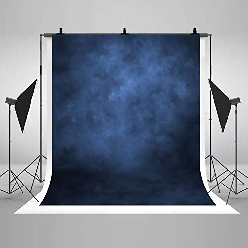 COMOPHOTO 5x7ft Abstract Photography Backdrop Portrait for Photo Studio Backdrops Children Kids Blue Polyester Photography Background Props