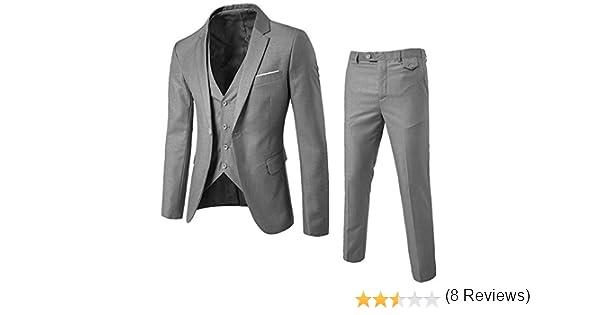 Logobeing Chaqueta de Hombre Trajes para Hombre, Traje Suit Hombre 2 Piezas Chaqueta pantalón Traje al Estilo Occidental