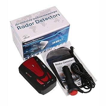 ghfcffdghrdshdfh Radar V7 DC12V 16 Banda de 360 Coches de la Policía Anti- GPS láser Detector de la cámara Alerta de Voz: Amazon.es: Coche y moto