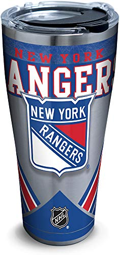 Tervis 1283415 NHL New York Rangers Ice Stainless Steel Insulated Tumbler with Clear and Black Hammer Lid 30oz Silver (New York Rangers Tumbler)
