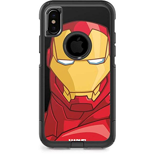 best sneakers f6f6e c0dc4 Amazon.com: Skinit Marvel Ironman OtterBox Commuter iPhone X Skin ...