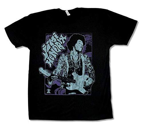 goushashangmao Alstyle Apparel Adult Jimi Hendrix Ornate Guitar Black T Shirt