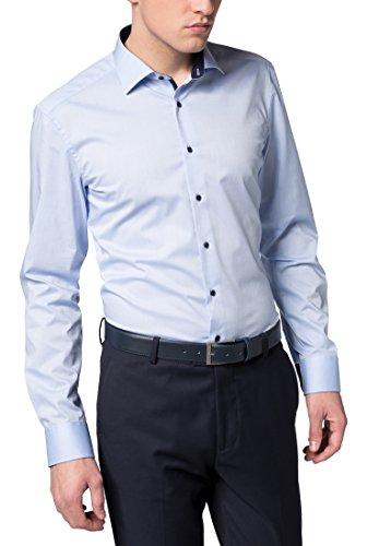 Eterna Long Sleeve Shirt Slim Fit Stretch Uni
