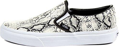 Vans Damen Schuhe Classic Slip-On Schwarz Silber Gr:34,5