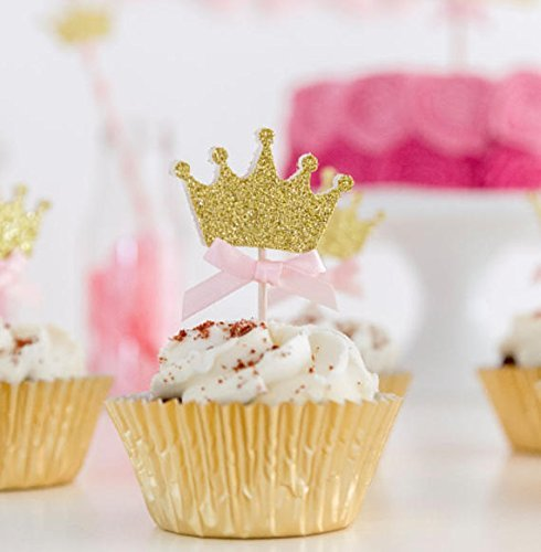 Swell Crown Birthday Cupcake Toppers Princess Party Decoration Any Funny Birthday Cards Online Overcheapnameinfo