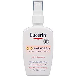 Eucerin Q10 Anti-Wrinkle Sensitive Skin Lotion SPF 15, 4 Ounce