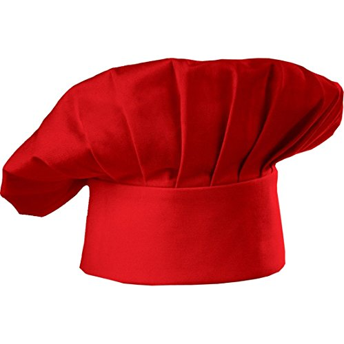 chef-hat-adult-adjustable-elastic-baker-kitchen-cooking-chef-cap-red