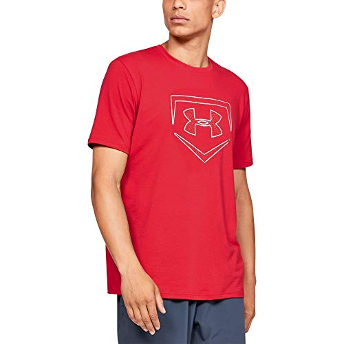(Under Armour Men's IL Graphic Short sleeve Plate Icon, Red (600)/Metallic Silver, X-Large)