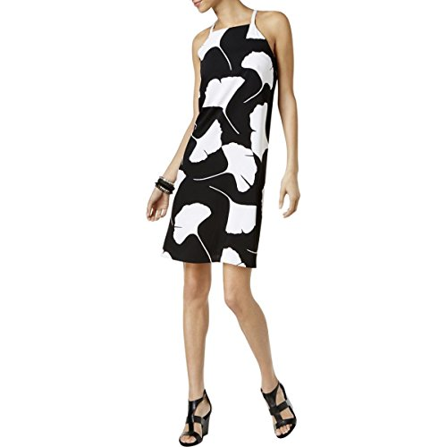 Dress Black Womens Casual Large Printed Leaf Halter Alfani xIASCqHH