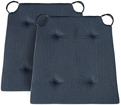 40 x 42 x 4 cm Cuscino per Sedia Basic con Rivestimento in Cotone Traumnacht Blu Scuro