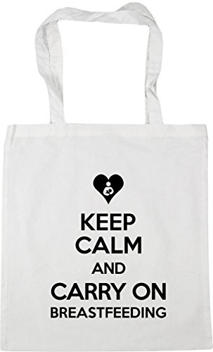 White Breastfeeding Bag 42cm On Carry Keep Calm 10 Shopping Tote Gym litres x38cm and Beach HippoWarehouse xAXHZqFq