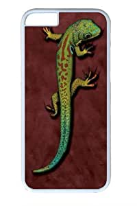 Bright Eyes Lizard Custom iphone 6 plus 5.5 inch Case Cover Polycarbonate White