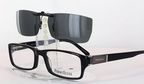 Amazon.com: PERRY ELLIS 292-2-56X19 POLARIZED CLIP-ON SUNGLASSES ...