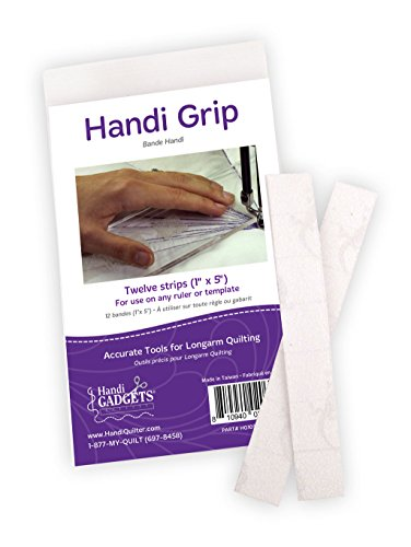 (Handi Grip Adhesive Strips: 12 Clear 1-Inch x 5-Inch Strips for Use on Any Ruler or Template)