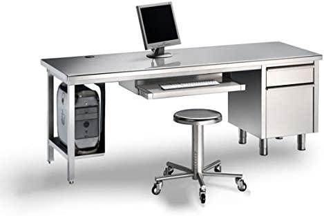 Disset Odiseo SGD14835 Mesa de escritorio en acero inoxidable con ...
