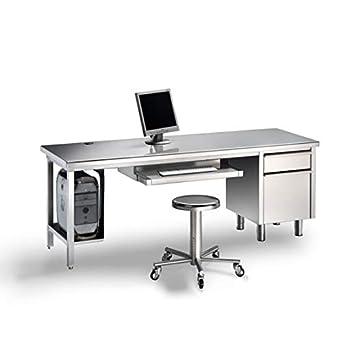 Disset Odiseo SGD14825 Mesa de escritorio en acero inoxidable ...