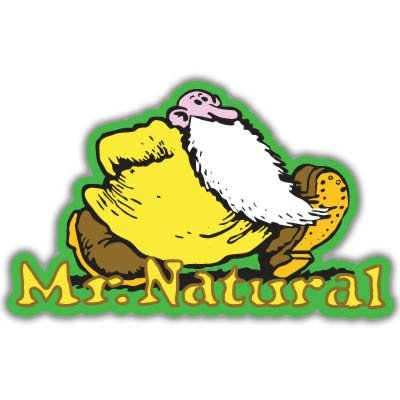 Mr. Natural Fred comic Vynil Car Sticker Decal - Select Size