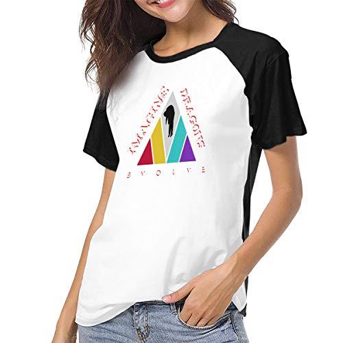Womens Short Sleeve Raglan Baseball T-Shirts Imagine Dragons Black