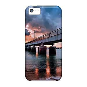 Excellent Iphone 5c Cases Covers Back Skin Protector Pier Under Wonderful Sky