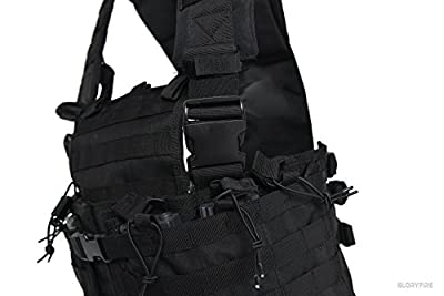GLORYFIRE Tactical Vest Modular Assault Vest Law Enforcement Vest Breathable Combat Training Vest Adjustable Lightweight