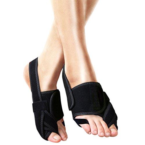 Myboree Bunion Splint Self Heating Toe Straightener Corrector Brace Pad For Hallux Valgus Pain Relief  Large 8 5 12