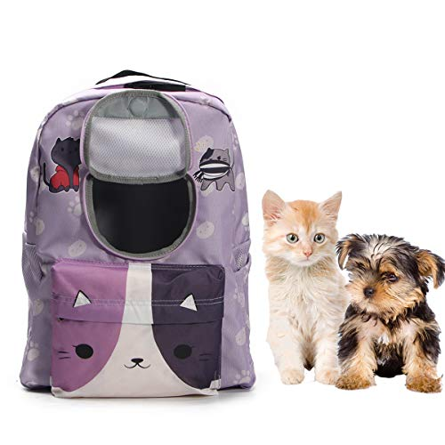 SOURCER Cat Backpack, Lightweight SuperBreak Backpack for Small Dog with Front Window Outdoor Pet Backpack for Traveling and Hiking - Pet Carrier Classic