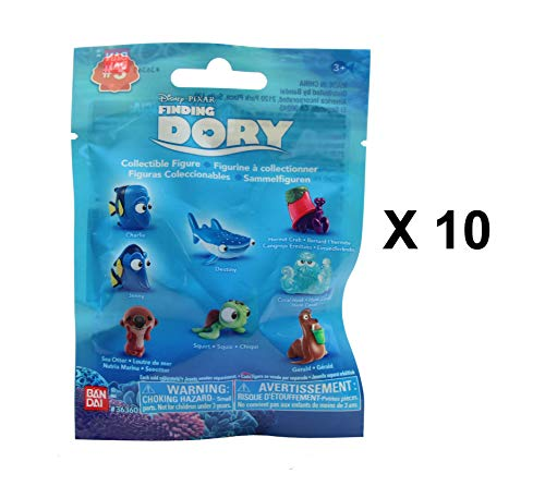 Finding Dory Disney Pixar Series 3 - Collectible Figures Mystery Blind Party Bags Pack of 10 -