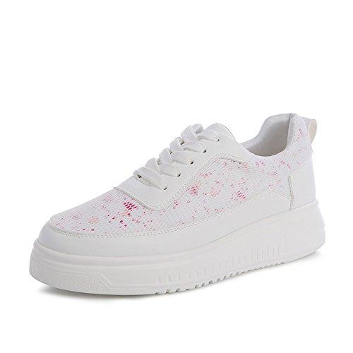 Zapatillas Casuales Primavera,La Versión Coreana De Joker De Malla Transpirable Zapatillas,Zapatos De Plataforma Dulce A