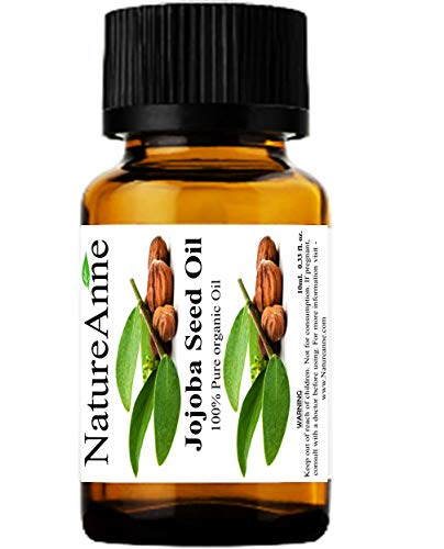 100% Pure Cold Pressed Jojoba Oil Natural Unrefined Moisturizer for Skin Hair Body and Nails 10ml