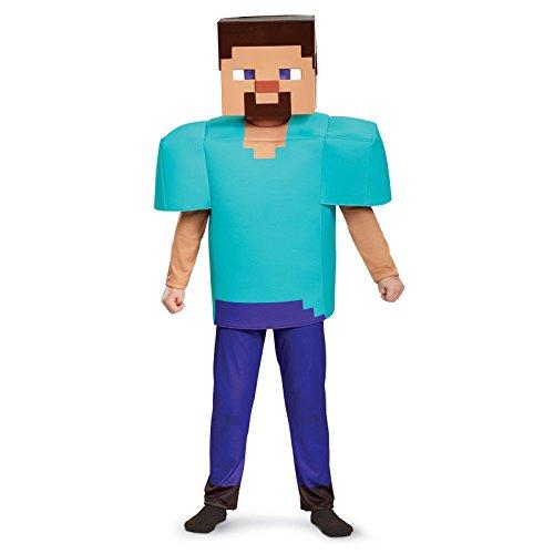 Steve Deluxe Minecraft Costume, Multicolor, Medium (7-8) (Mine Craft Costume)