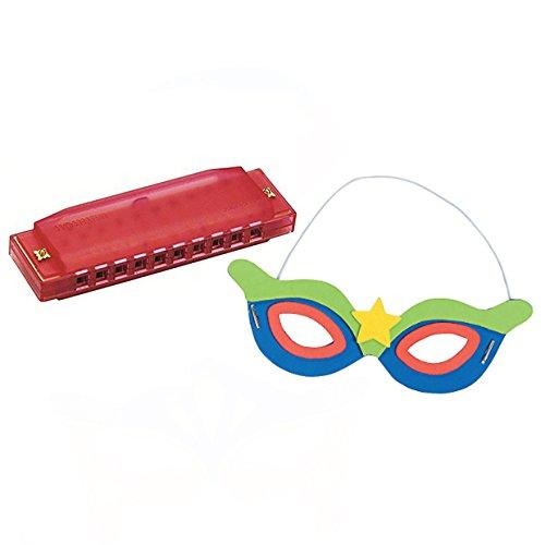 VBS Superhero Theme -Music Craft 4 pack W/Red Harmonica & Super Hero Mask Craft]()