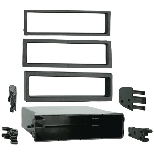 - 1 - Ford(R)/Mazda(R)/Nissan(R)/Toyota(R)/Volvo(R) Under-Radio Multi-Pocket, For use with factory brackets for ISO DIN installs or when the factory radio & pocket are not present, Snap-on trim rings blend the pocket to the dash for a factory look, 88-00-9000