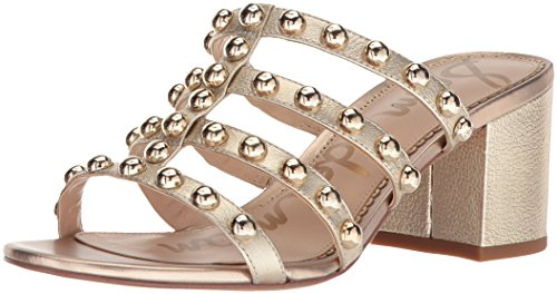 - Sam Edelman Women's Suri Heeled Sandal, Molten Gold/Metallic Leather, 7.5 M US