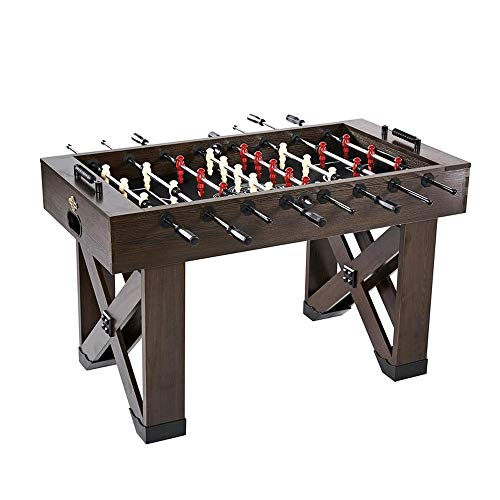 (Lancaster Gaming Company Medal Sports 56 Inch X Leg Indoor Game Room Multiplayer Soccer Foosball Table)