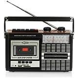 Ricatech PR85–Radio-cassette, lecteur/enregistreur USB/SD, Noir