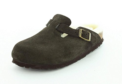 Birkenstock Womens Boston Mocha Suede/Shearling Clog - 41...